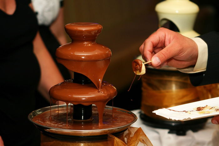 Fontanna czekoladowa na wesele